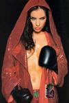 Natalia Oriero prefers topless boxing...