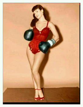 Betty Page liked to box too