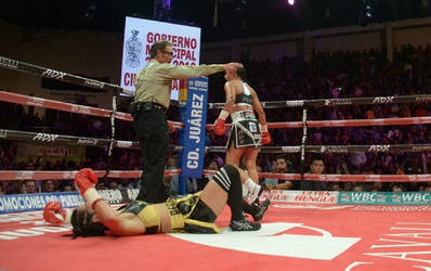Another view of Noemi's knockdown and TKO by freddobbs