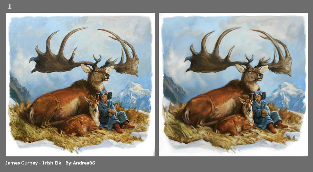 Irish Elk_James Gurney_study by Andreiuska