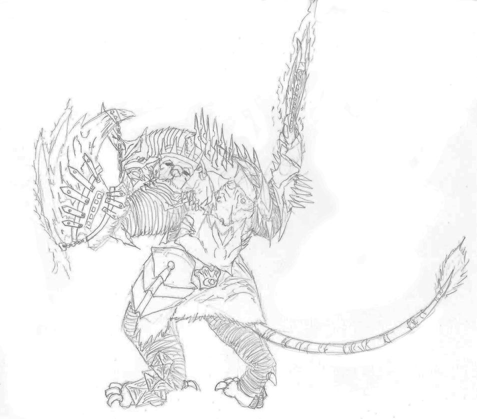 Tilentus Battlemane - Sketch by Nekot-The-Brave