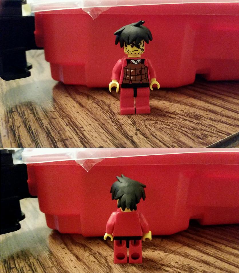 LEGO Goku Hair Piece by plutoniumcaterpillar