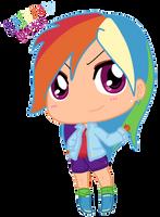 Chibi Human Rainbow Dash by Autumn-Spice