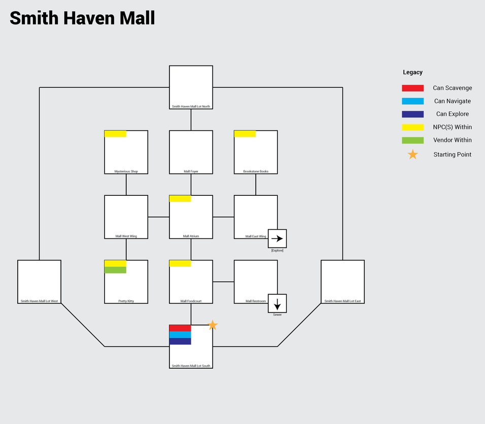 Smith Haven Mall Map Flexible Survival • View topic   Mall Map Smith Haven Mall Map