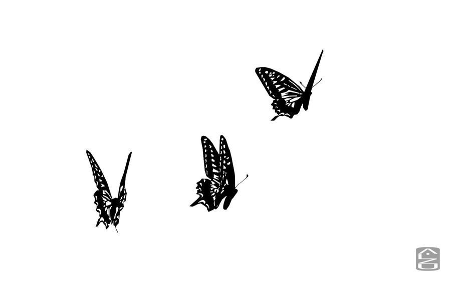 Flying Butterfly Tattoo Drawings | www.pixshark.com ...