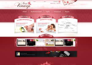 Wedding service - web design
