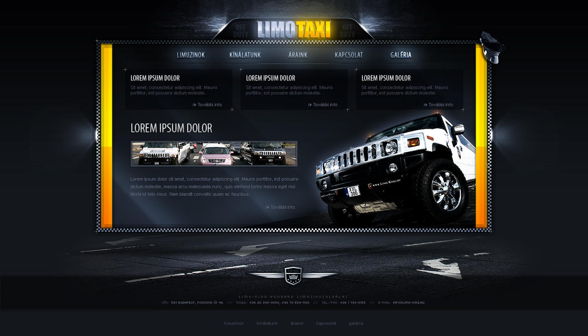 LimoTaxi - web design by VictoryDesign