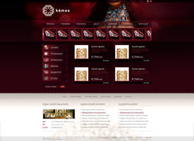 web design for jewellery shop by VictoryDesign