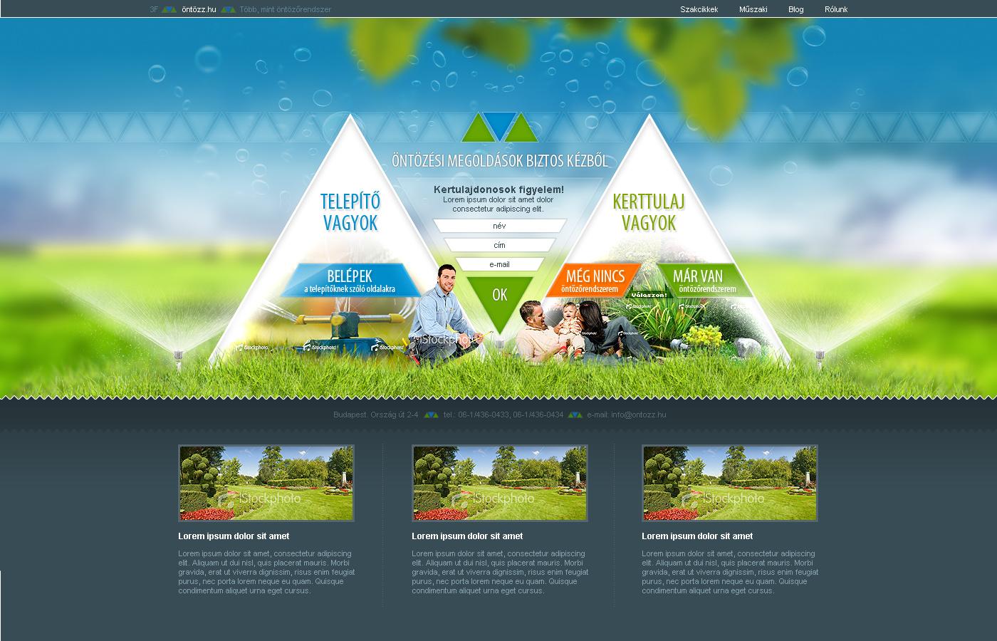 Web design - Irrigation