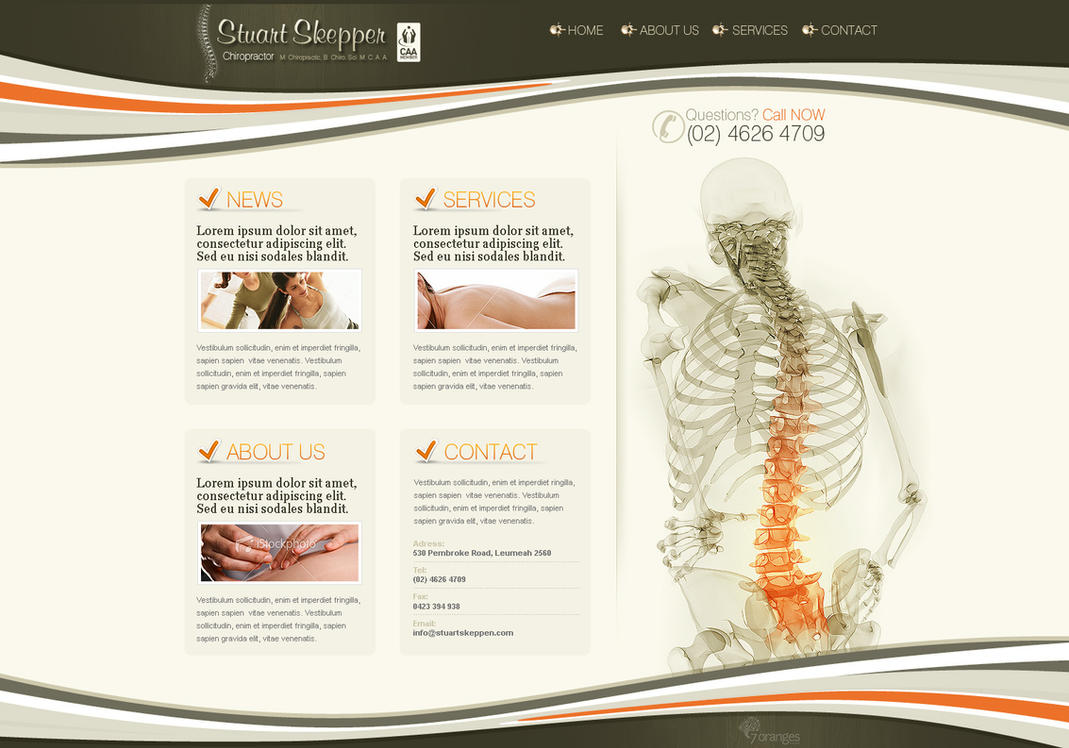 Chiropractor's website design by VictoryDesign
