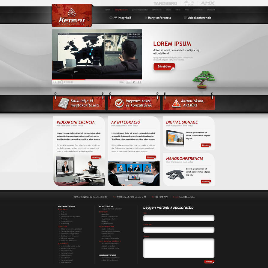 Kensai web design by VictoryDesign