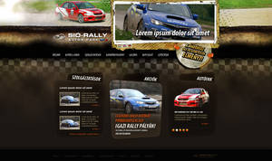 web design: Sio Rally Team