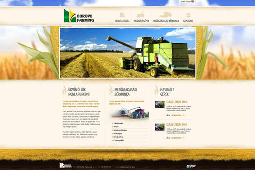 web design: Europe Farming