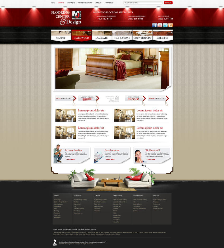 Web Design Mj Flooring By Victorydesign On Deviantart