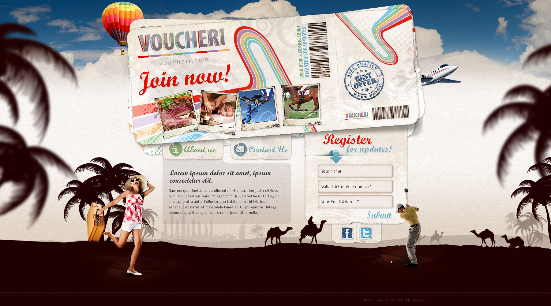 Web design: Voucheri by VictoryDesign