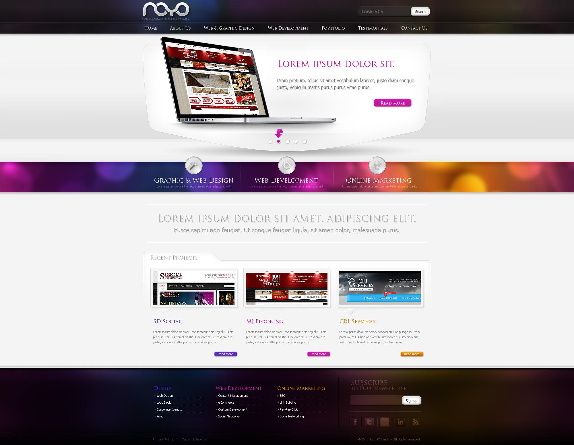 Web design: NOYO webdesign by VictoryDesign