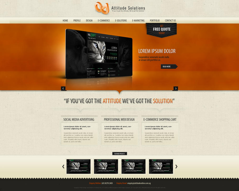 website theme design
