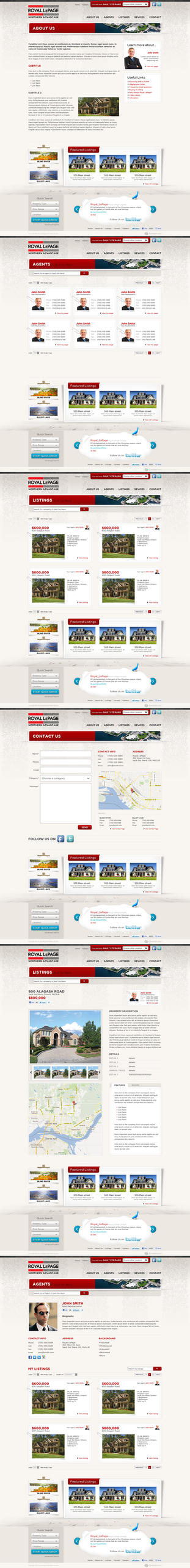 Web Design: Royal LePage by VictoryDesign