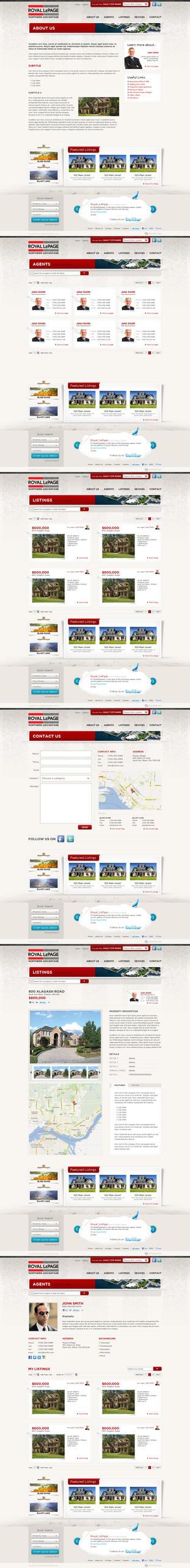 Web Design: Royal LePage by VictoryDesign