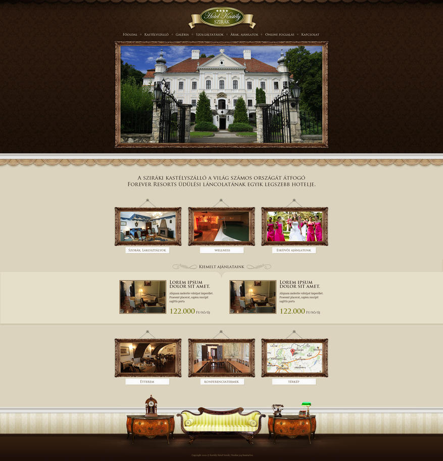 Web design hotel sziraki by victorydesign on deviantart for Hotel web design