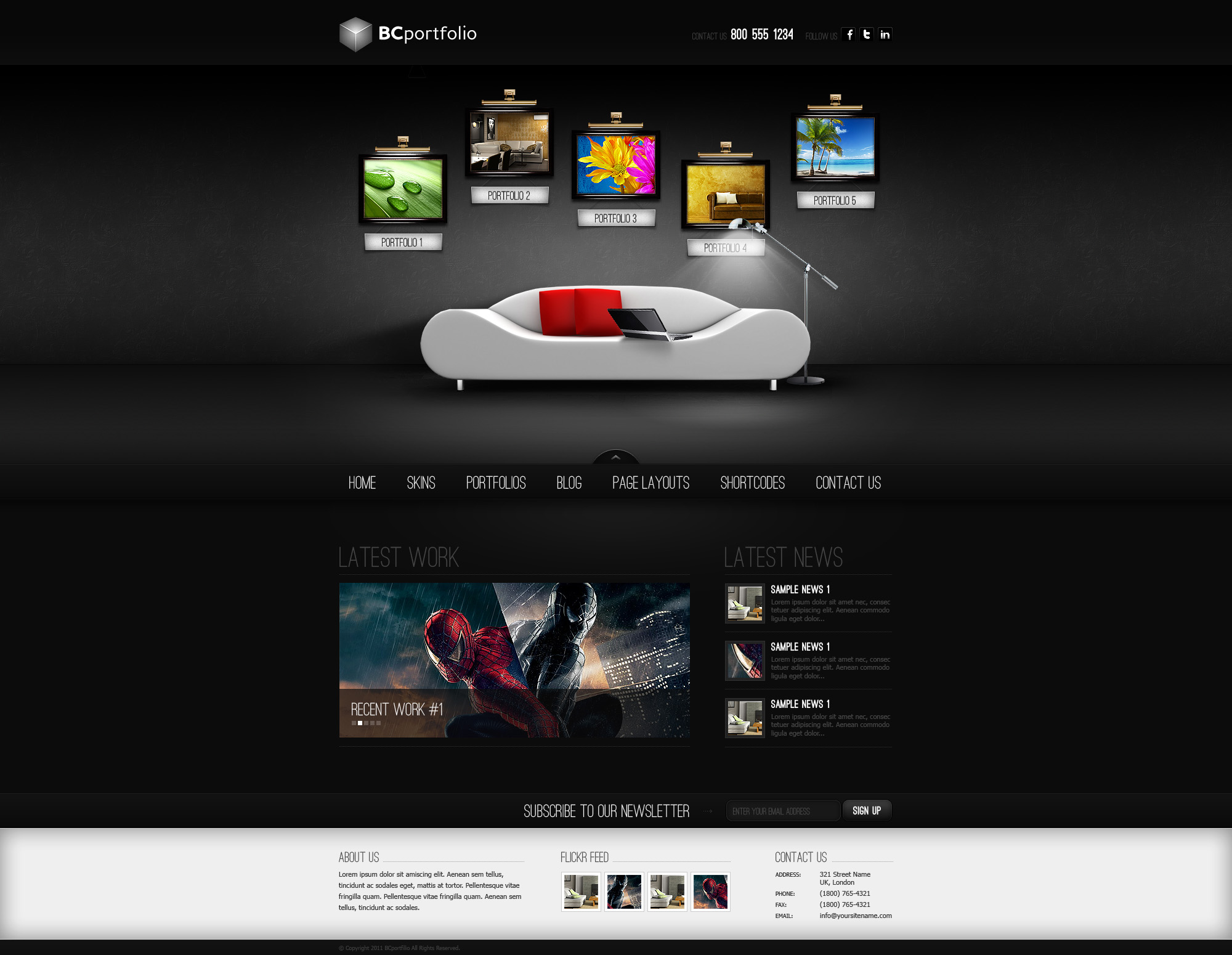 Web design wordpress template by victorydesign on deviantart 3d site