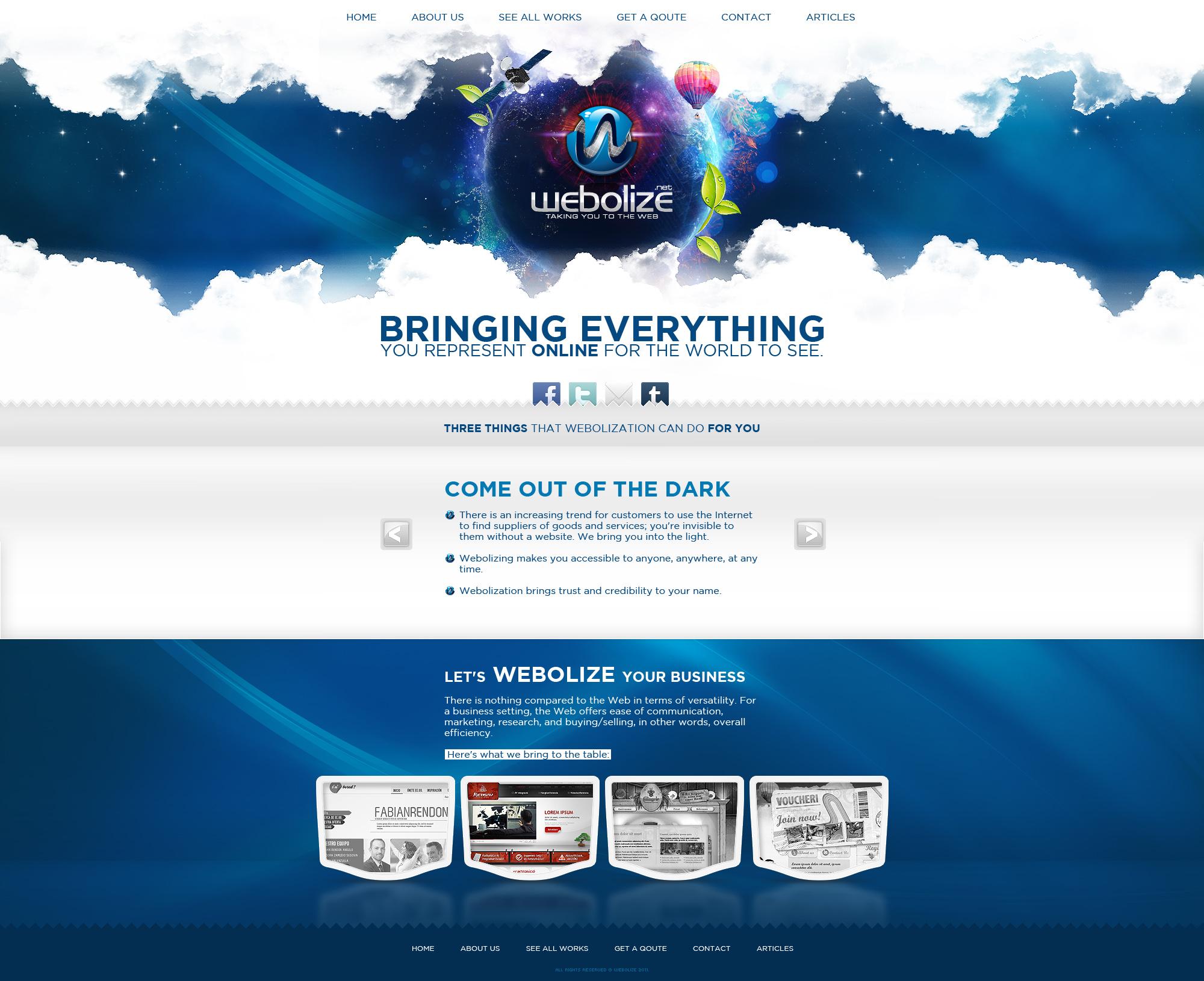 Web Design: Webolize by VictoryDesign