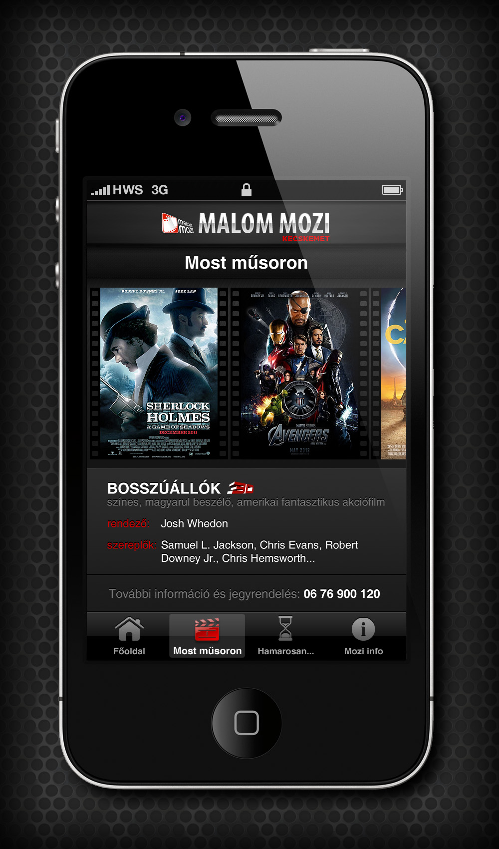 Mobile Web Design: Cinema by VictoryDesign