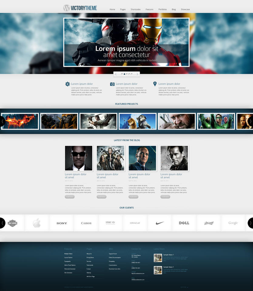 Web Design: WordPress Template by VictoryDesign
