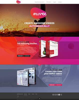 Web design: Muvee - home by VictoryDesign