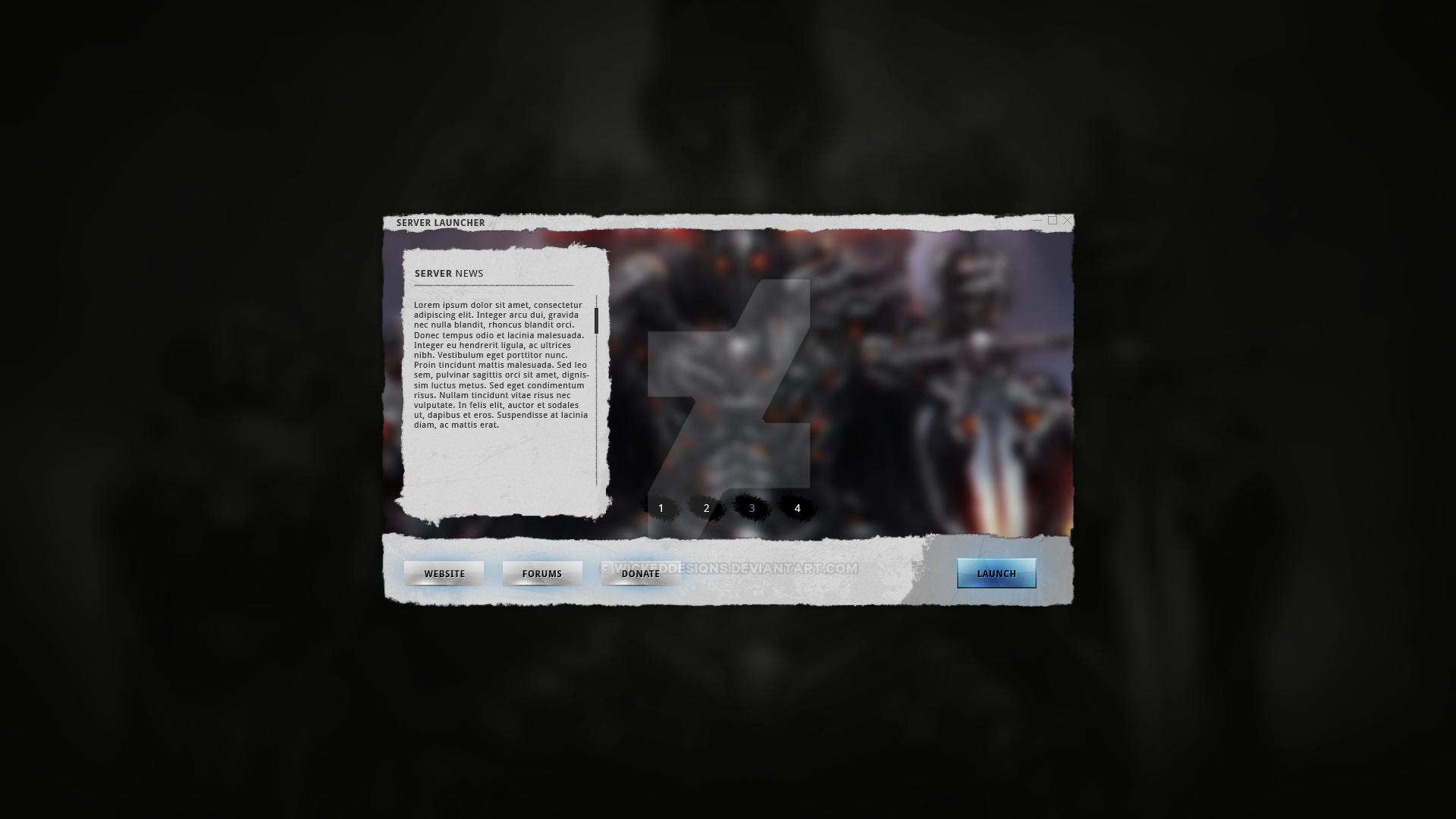FREE] Grunge Game Launcher by WickedDesiqns on DeviantArt