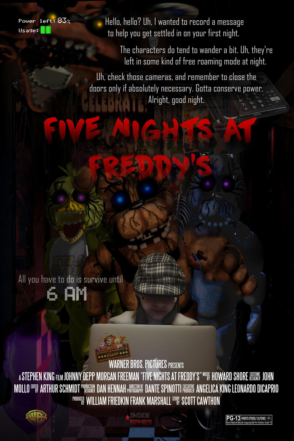 five nights at freddy s movie poster by snoringdragonprod on deviantart