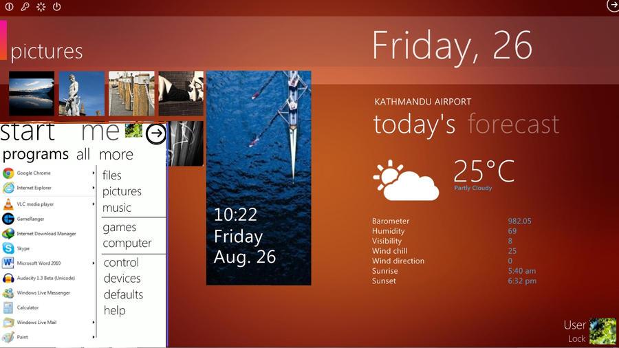 Windows 8 Start Menu by bswas