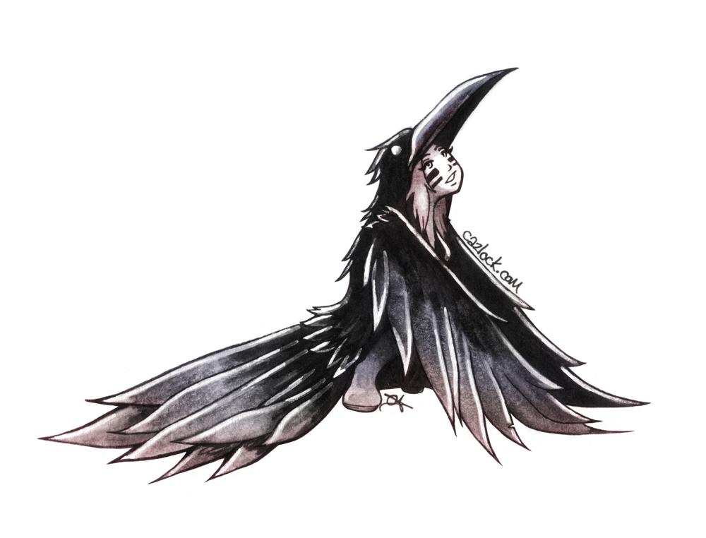 Raven Girl by Caz-Lock