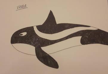 Inktober 2018 Day 12: Whale by PanaceaTheAnti-Venom
