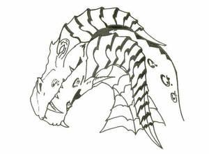 Ink Dragon head