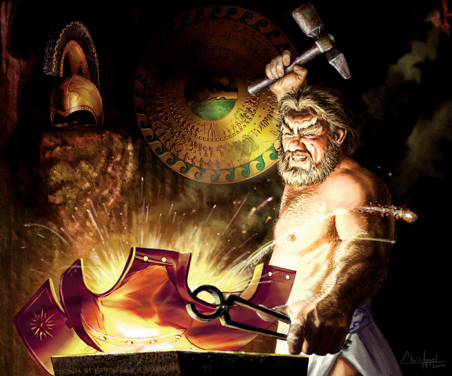 hephaestus one of the 12 olympian gods a god of fire and divine smith Of the greeks known as the olympian gods, or the twelve olympians been considered an olympian in one story hephaestus was known as the god of fire.