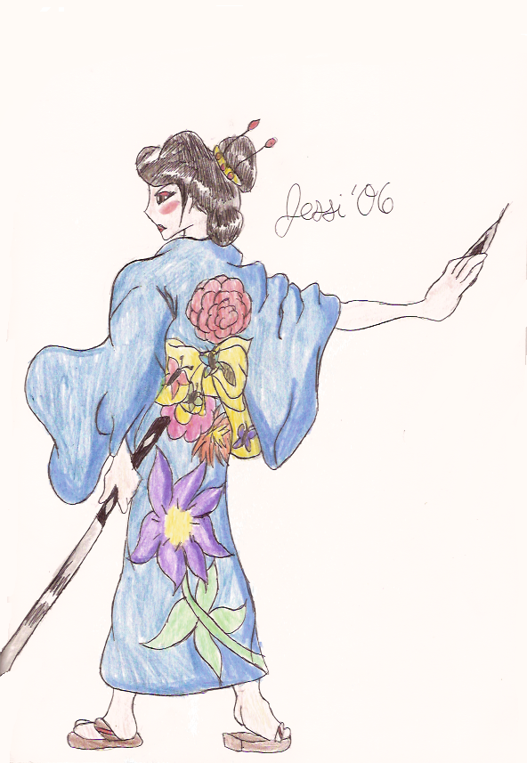 Kimono Girl by setos-scythergirl