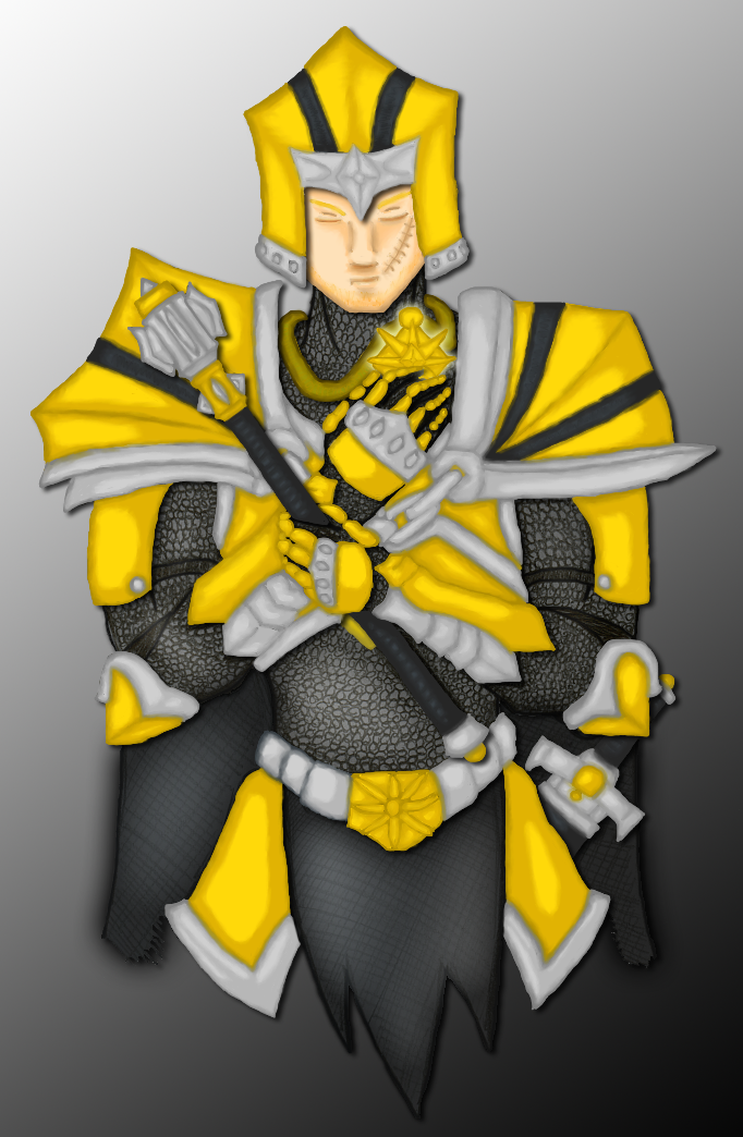 Aaron Kingden: Cleric of Light by Draxen