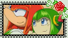 Cosmo X Knuckles Stamp by HTFWhiskersthecat