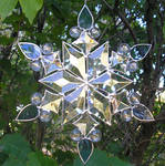Stained Glass Snowflake 2