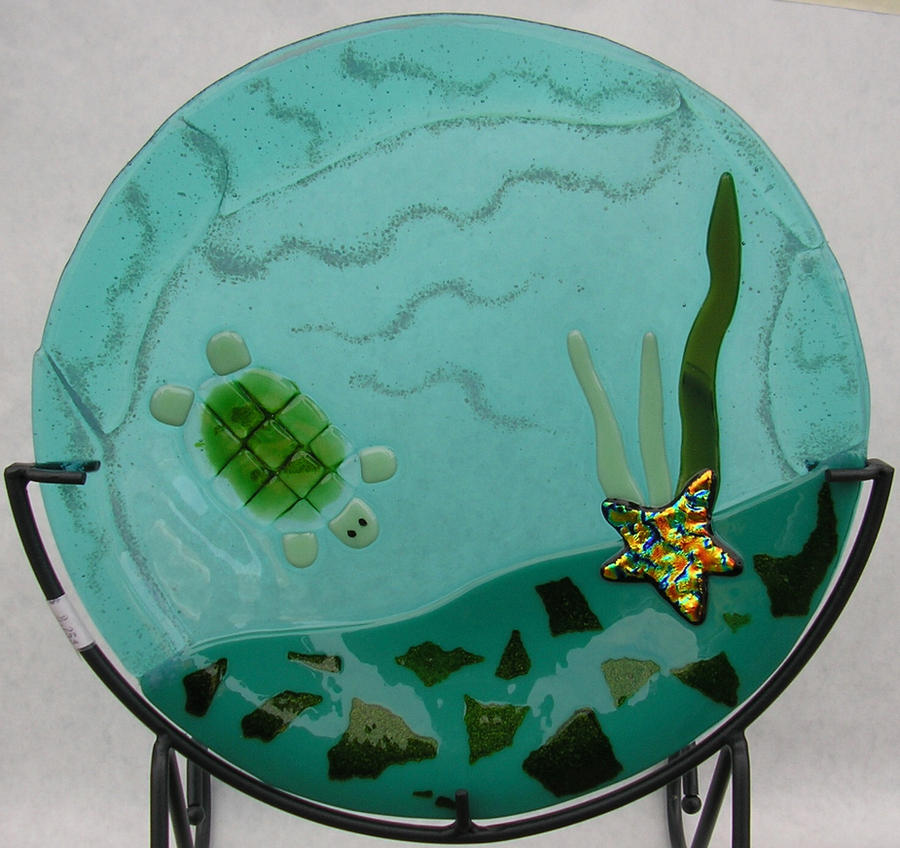 Fused Turtle Plate by CeltCraft