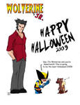 Wolverine and Jr Halloween