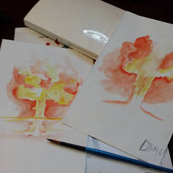 Teaching Tint and Shade with Watercolors