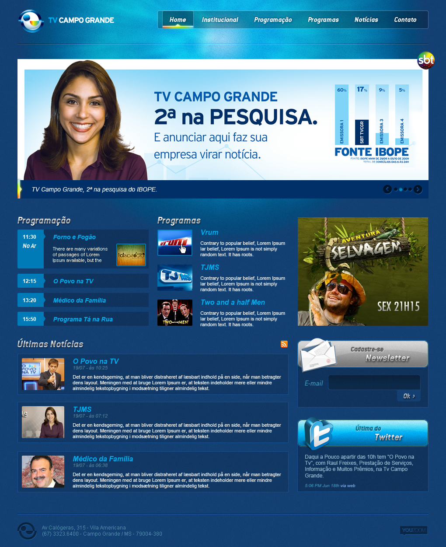 TV Campo Grande - Layout