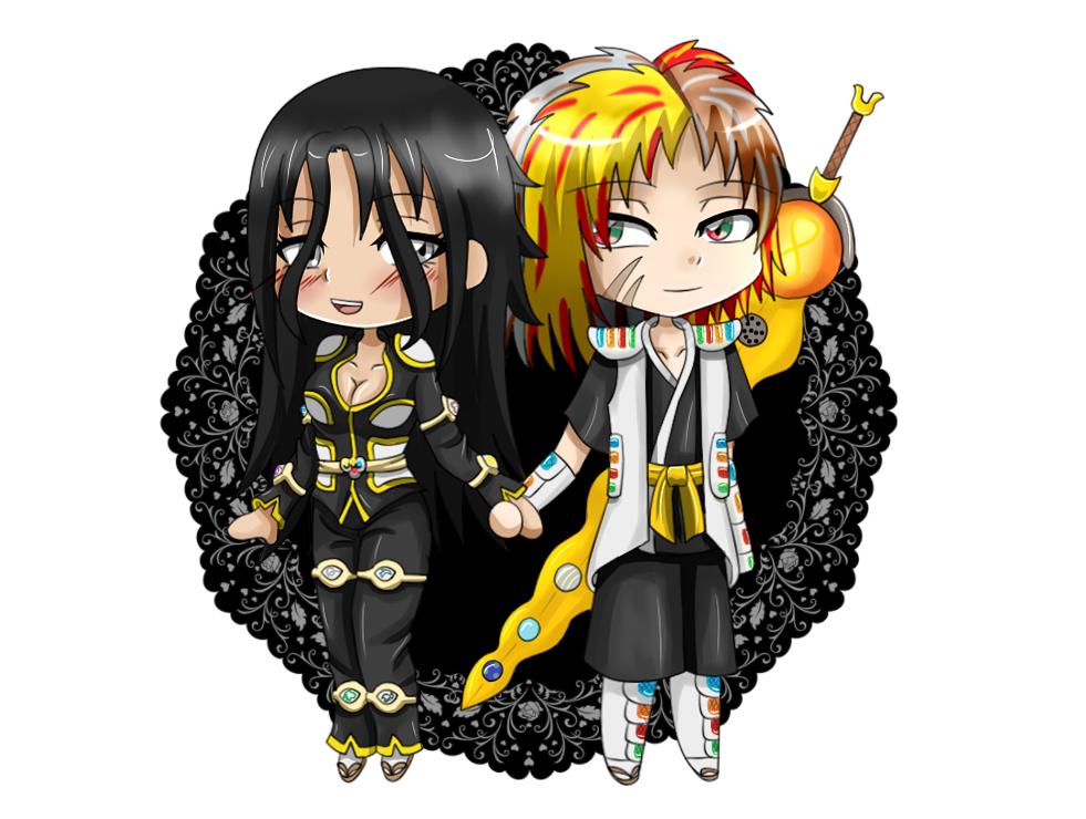 Ryutora and Asuna: Jusace style by ChikaraRyoku