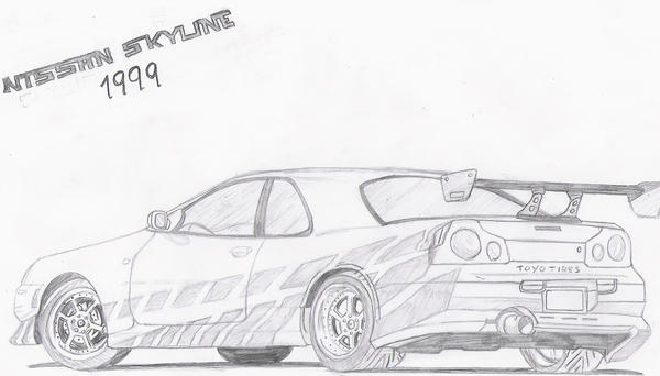 Nissan Skyline Sketch Nissan Skyline by Vegand