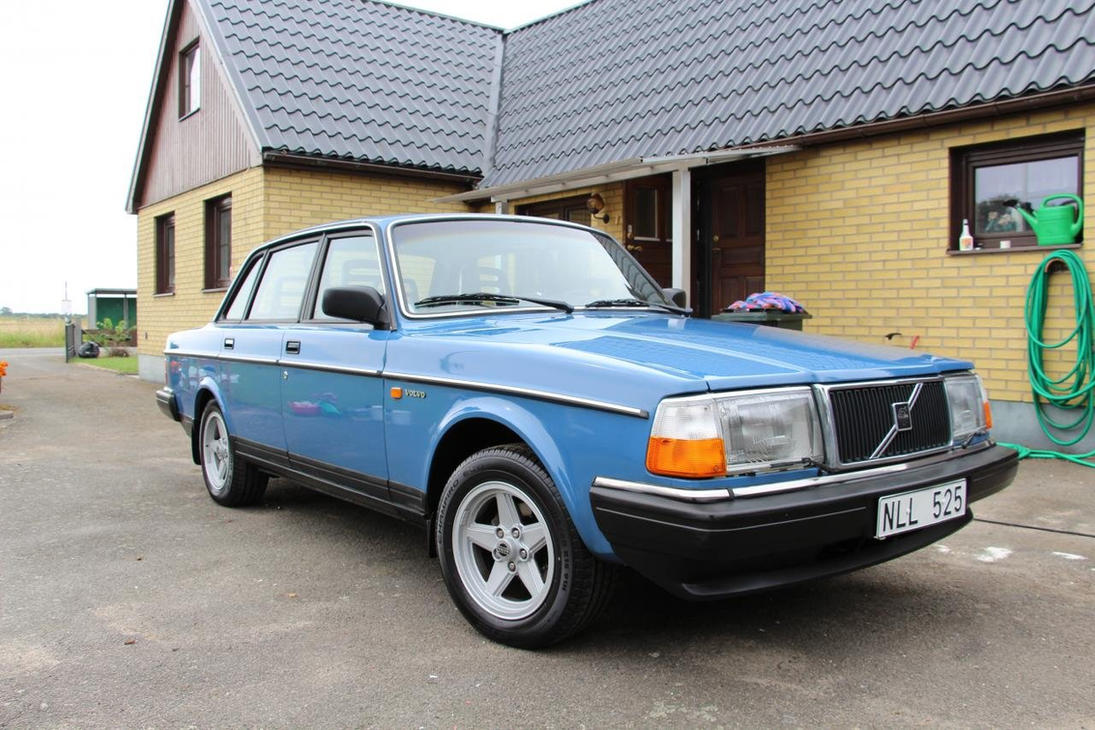 Volvo 240 Blue by LucasKroon on DeviantArt