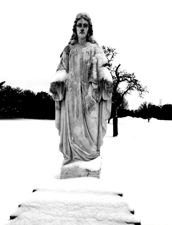 Winter Jesus by PeaceFrogArt