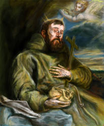 Saint Francis of Assisi in Ecstasy by LuisBrancoac