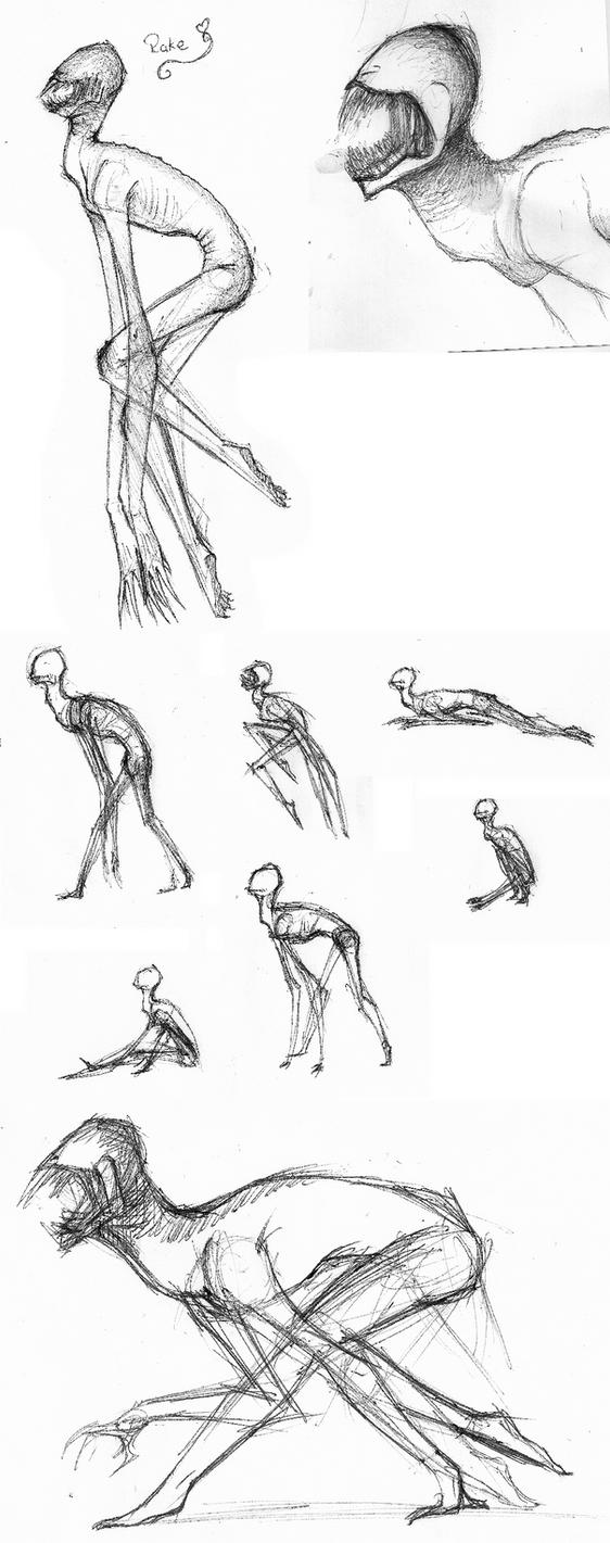 The Rake Sketches by WheatPodlaska